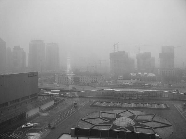 A Pekingi szmog szmog miatt már vörös riasztást adtak ki